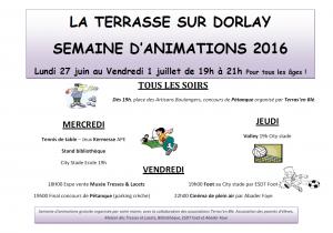 Semaine d'animation 2016