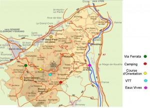 carte pilat avec lieux