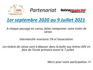 2020 Partenariat internarché Affiche
